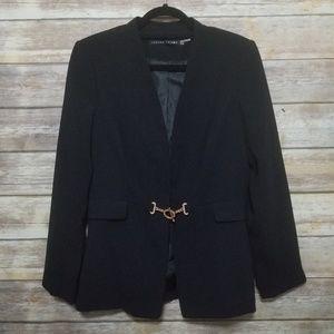 Ivanka Trump Black Gold Closure Blazer Jacket 10